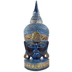 Guru-Shop Buddhafigur Stehende Buddha Maske, Thai Buddha Statue -.. 27 cm x 74 cm x 13 cm