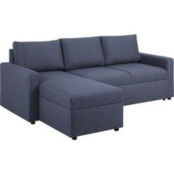Sander Schlafsofa Ottomane blau Schlafcouch Couch Sofa Gästebett Wohnzimmer