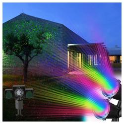 etc-shop Gartenleuchte, 3er Set RGB LED Steck Lampen Garten Party Beleuchtung Außen Timer Steckdose IP44 Erdspieß Leuchten