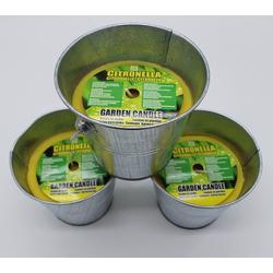 JOKA international Duftkerze 3X Kerze Citronella im Metalleimer