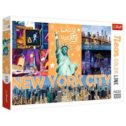 Trefl Puzzle Trefl 10579 Neon Color Line - New York City Puzzle, Puzzleteile