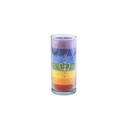 yogabox Duftkerze Chakra Kerze MULTICOLOR MEDIUM ca. 14 cm