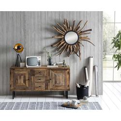 SIT Sideboard Parquett, aus recyceltem Teakholz, Breite 150 cm