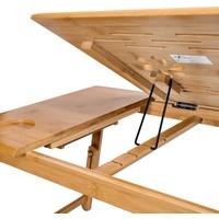 Tectake Laptoptisch aus Holz, höhenverstellbar, 55x35x26cm (1-St) braun