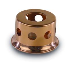 2521-10 Stövchen aus reinem Kupfer Ø=10cm Höhe= 7cm
