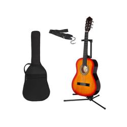 Gitarrenset Konzertgitarre 1/4, inkl. Gitarrentasche und Gitarrengurt braun
