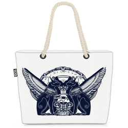 VOID Strandtasche (1-tlg), Ägypten Katzen Wächter Ägypten Katzen Wächter Sphinx altes ägypten hi