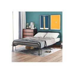 Merax Metallbett, Doppelbett Metallbettrahmen, Schlafzimmerbett, Bettrahmen für Wohnzimmer 140 cm x 205 cm