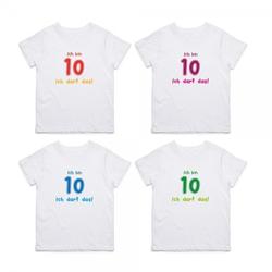 """Kinder T- Shirt zum 10.Geburtstag """"Ich darf das"""""""