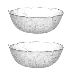 Luminarc Salatschüssel 2x Luminarc Aspen große Salatschüssel 27 cm - Glas, Glas