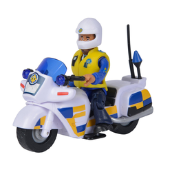 SIMBA Spielzeug-Motorrad Simba Feuerwehrmann Sam - Polizei Motorrad mit Figur