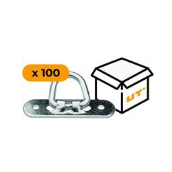Set: 100 Verzinkte Bügelkrampen H-25 mm (12.25)