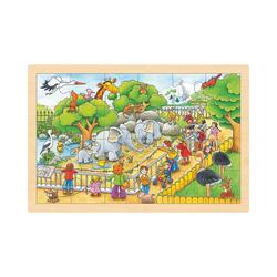 goki Puzzle Einlegepuzzle Zoobesuch, Puzzleteile