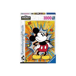 Ravensburger Puzzle Puzzle 1000 Teile, 70x50 cm, Retro Mickey, Puzzleteile