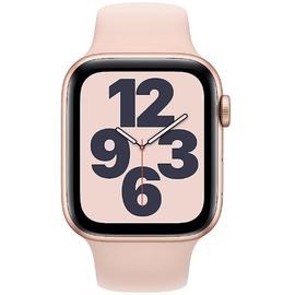 Apple Watch SE GPS 44 mm Aluminiumgehäuse gold, Sportarmband sandrosa