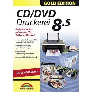 Markt & Technik CD/DVD Druckerei 8.5 Gold Edition Vollversion, 1 Lizenz Windows Multimedia-Software,