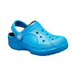 Crocs Clogs Hausschuhe Ralen Lined gefüttert für Jungen Clog blau 25/26