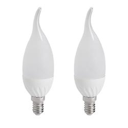 2er Set SMD LED 4,5 Watt Leuchtmittel EEK A+ 400lm 3000K Kerze Birne E14 Fassung