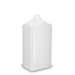 1000 ml Vierkantflasche PCR HDPE - natur - DIN 28