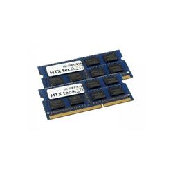 MTXtec 16GB Kit 2x 8GB DDR3 1866MHz SODIMM DDR3 PC3-14900, 204 Pin, 1.35V DDR3L RAM Laptop-Arbeitsspeicher