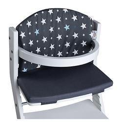 Polster grau Sterne Kinderhochstuhl  Kinder