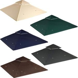 freigarten.de Ersatzdach für Pavillon 334 cm x 334 cm Sand Antik Pavillon Wasserdicht Material: Panama PCV Soft 370g/m2 extra stark Modell 10 (Grün)