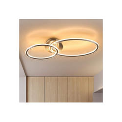 ZMH LED Deckenleuchte Deckenleuchte wohnzimmer Deckenlampe schlafzimmer Küchen 3000K warmweiß 29W in 2 Ring Design