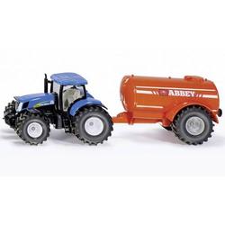 SIKU Spielwaren Traktor mit Ein-Achs-Güllefass