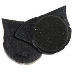 Shoei C Oorkussens, zwart, Eén maat