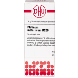 PLATINUM METALLICUM D 200 Globuli 10 g