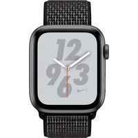 (GPS + Cellular) 44mm Aluminiumgehäuse space grau mit Nike Loop Sportarmband schwarz