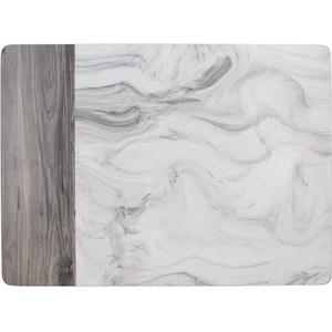 CREATIVE TOPS Premium Bedruckte Platzsets mit Marmor-Motiv mit Unterseite aus Kork, weiß/grau, Medium Placemats, 6