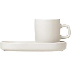 BLOMUS Espressotasse PILAR (4-tlg), inkl. Untertassen weiß