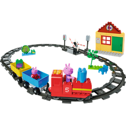 BIG Bloxx Peppa Pig Eisenbahn Bausteine, Mehrfarbig