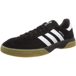 adidas HB Spezial Herren Handballschuhe, Schwarz (Black 1/Running White/Black 1), 46 2/3 EU