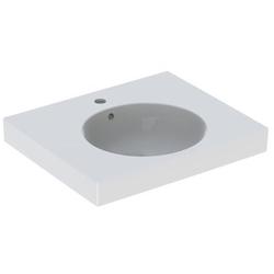 Geberit Waschtisch II PRECIOSA 600 x 500 mm, mit Ablagefläche, Hahnloch und Überlauf weiß