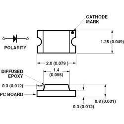 Broadcom HSMS-C170 SMD-LED 0805 Rot 10 mcd 170° 20mA 2.1V Tape cut