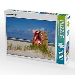 Strandkorb No. 337 Lege-Größe 64 x 48 cm Foto-Puzzle Bild von Angela Dölling, AD DESIGN Photo + PhotoArt Puzzle