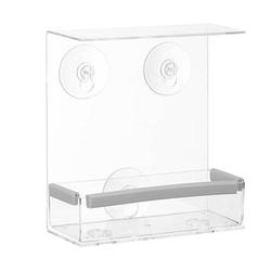relaxdays Vogelfutterspender   transparent 15,0 x 7,5 x 16,5 cm