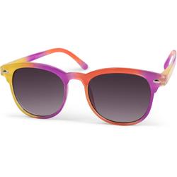 styleBREAKER Sonnenbrille Kinder Nerd Sonnenbrille in Regenbogen Farben Getönt gelb