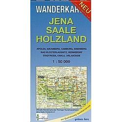 Wanderkarte Jena  Saale  Holzland - Buch