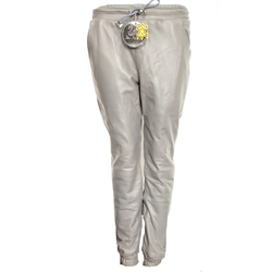 Lederhose Jogginghose aus ECHT-Leder grau