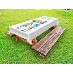 Abakuhaus Tischdecke dekorative waschbare Picknick-Tischdecke, Autismus Welt-Autismus-Tag 145 cm x 265 cm