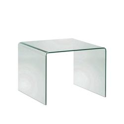 Glas Beistelltisch aus Sicherheitsglas 60 cm breit