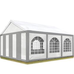 Toolport Partyzelt 3x6m PE 240g/m² grau wasserdicht Gartenzelt, Festzelt, Pavillon