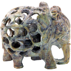 Guru-Shop Dekofigur Speckstein Elefant