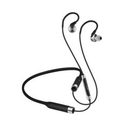 RHA MA750 Wireless Bluetooth In-Ear-Kopfhörer mit Hi-Res- Schwarz/Silber aptx