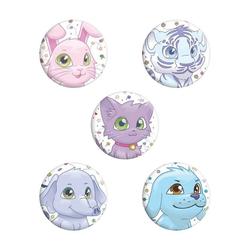 Grindstore Button Set Kinder Button Set Comic Tiere