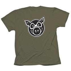 Tshirt PIG WHEELS - Pg F & B Head Tee Military (MILITARY) Größe: XL