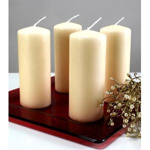 Kerzen Safe Candle Markenkerzen Adventskerzen Stumpenkerzen 150/60 mm creme, 12 Stk.